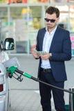 Estación de servicio de la gasolina Imágenes de archivo libres de regalías