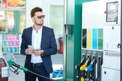 Estación de servicio de la gasolina Foto de archivo libre de regalías