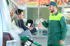 Estación de servicio de la gasolina Fotos de archivo