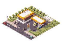 Estación de servicio isométrica del vector