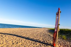 Estación de socorro en las playas de Chappaquiddick foto de archivo libre de regalías
