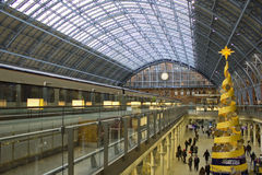 Estación de St Pancras, Londres, Inglaterra Fotografía de archivo