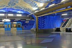 Estación de T-Centralen en Blue Line, diseñado cerca por Olof Ultvedt Fotos de archivo libres de regalías