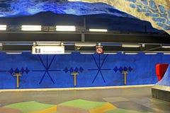 Estación de T-Centralen en Blue Line, diseñado cerca por Olof Ultvedt Foto de archivo libre de regalías