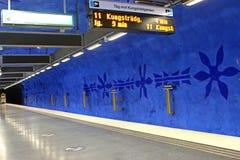 Estación de T-Centralen en Blue Line, diseñado cerca por Olof Ultvedt Imagen de archivo libre de regalías