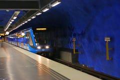 Estación de T-Centralen en Blue Line, diseñado cerca por Olof Ultvedt Fotografía de archivo libre de regalías