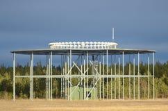 Estación de tierra del VOR del faro de radio Imagen de archivo libre de regalías