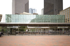 Estación de tránsito de centro del gobierno Boston céntrica Fotos de archivo