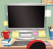 Estación de trabajo del ordenador Ilustración del Vector