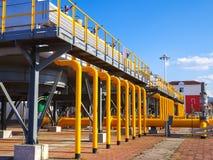 Estación de transporte del gas Foto de archivo libre de regalías