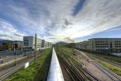 Estación de tren imagenes de archivo