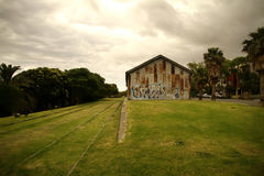 Estación de tren abandonada Imágenes de archivo libres de regalías