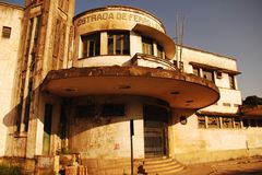 Estación de tren abandonada en Vila Velha, Brazil_02 fotografía de archivo libre de regalías