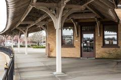 Estación de tren antigua Imágenes de archivo libres de regalías