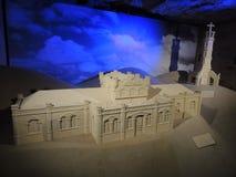 Estación de tren - arte de la piedra caliza Foto de archivo