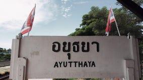 Estación de tren de Ayutthaya almacen de video