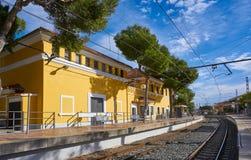 Estación de tren de Canadá del La en Paterna de Valencia Imágenes de archivo libres de regalías