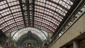 Estación de tren central de Amberes foto de archivo