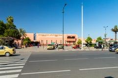 Estación de tren central, y término de autobuses Gare Routiere Voyageurs Marrakesh fotografía de archivo