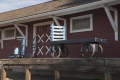 Estación de tren Dawson Creek Alaska Highway Imagen de archivo