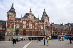 Estación de tren de Amsterdam Imágenes de archivo libres de regalías