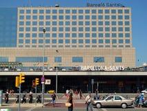 Estación de tren de Barcelona Sants Fotografía de archivo