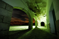 Estación de tren abandonada fotografía de archivo libre de regalías