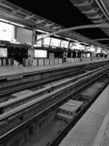 Estación de tren de cielo Fotografía de archivo