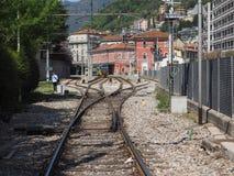 Estación de tren de Como Nord Lago en Como Imagenes de archivo