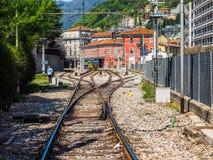 Estación de tren de Como Nord Lago en Como HDR Imagen de archivo