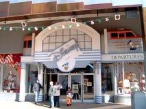 Estación de tren de Disneyland París fotografía de archivo