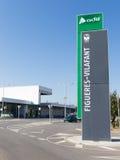 Estación de tren de Figueras Foto de archivo libre de regalías