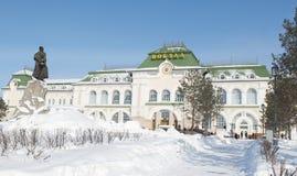 Estación de tren de Khabarovsk Imagenes de archivo