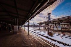 Estación de tren de la ciudad Heiligenstadt en Viena Fotos de archivo libres de regalías