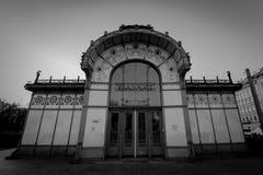 Estación de tren de la ciudad Karlsplatz en Viena Fotos de archivo