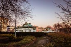 Estación de tren de la ciudad Karlsplatz en Viena Imágenes de archivo libres de regalías