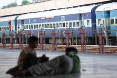 Estación de tren de la India Imagenes de archivo