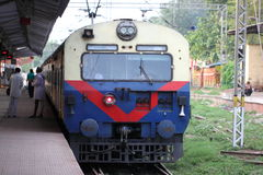 Estación de tren de la India Foto de archivo libre de regalías