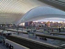 Estación de tren de Lieja Guillemins, Bélgica Foto de archivo