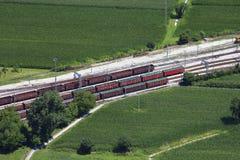 Estación de tren de mercancías Imagen de archivo libre de regalías
