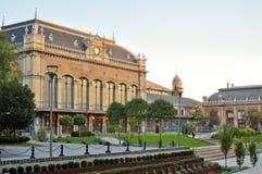 Estación de tren de Nyugati en Budapest fotografía de archivo