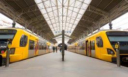 Estación de tren de Oporto, S Bento Fotografía de archivo