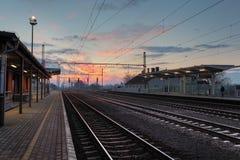 Estación de tren de Passager Imágenes de archivo libres de regalías