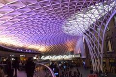 Estación de tren de reyes Cross de Londres Fotografía de archivo libre de regalías