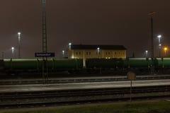 Estación de tren de Schwandorf Imagenes de archivo