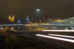 Estación de tren de Schwandorf Foto de archivo libre de regalías