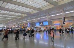 Estación de tren de Shangai Hongqiao Shangai China imagenes de archivo