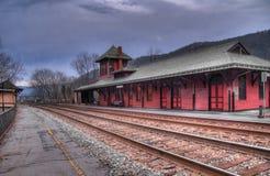 Estación de tren de Virginia Occidental del transbordador de Harper Imagen de archivo libre de regalías