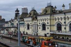 Estación de tren de Vladivostok Fotografía de archivo libre de regalías