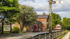 Estación de tren del camino de Hadlow de la caja de señal imágenes de archivo libres de regalías